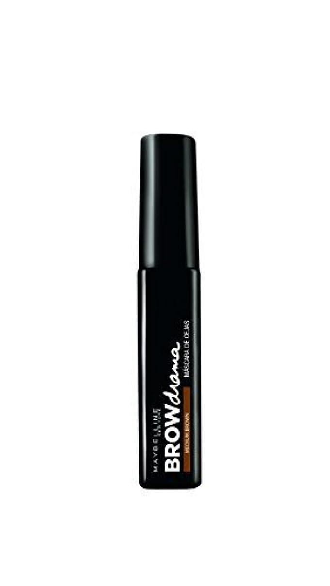工業用恐ろしいラップMaybelline Brow Drama Sculpting Brow Mascara - Medium Brown 7.6ml by Max Factor