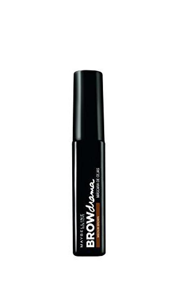 おそらく巨人苦味Maybelline Brow Drama Sculpting Brow Mascara - Medium Brown 7.6ml by Max Factor