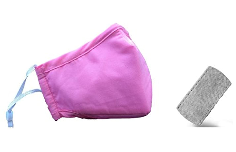 西部傭兵気分が良い【 PM 2.5 花粉 防塵 マスク 】大人 子供 サイズ 洗濯できる ! 選べる カラー フィルター 付き cos mask (ピンク 大人)