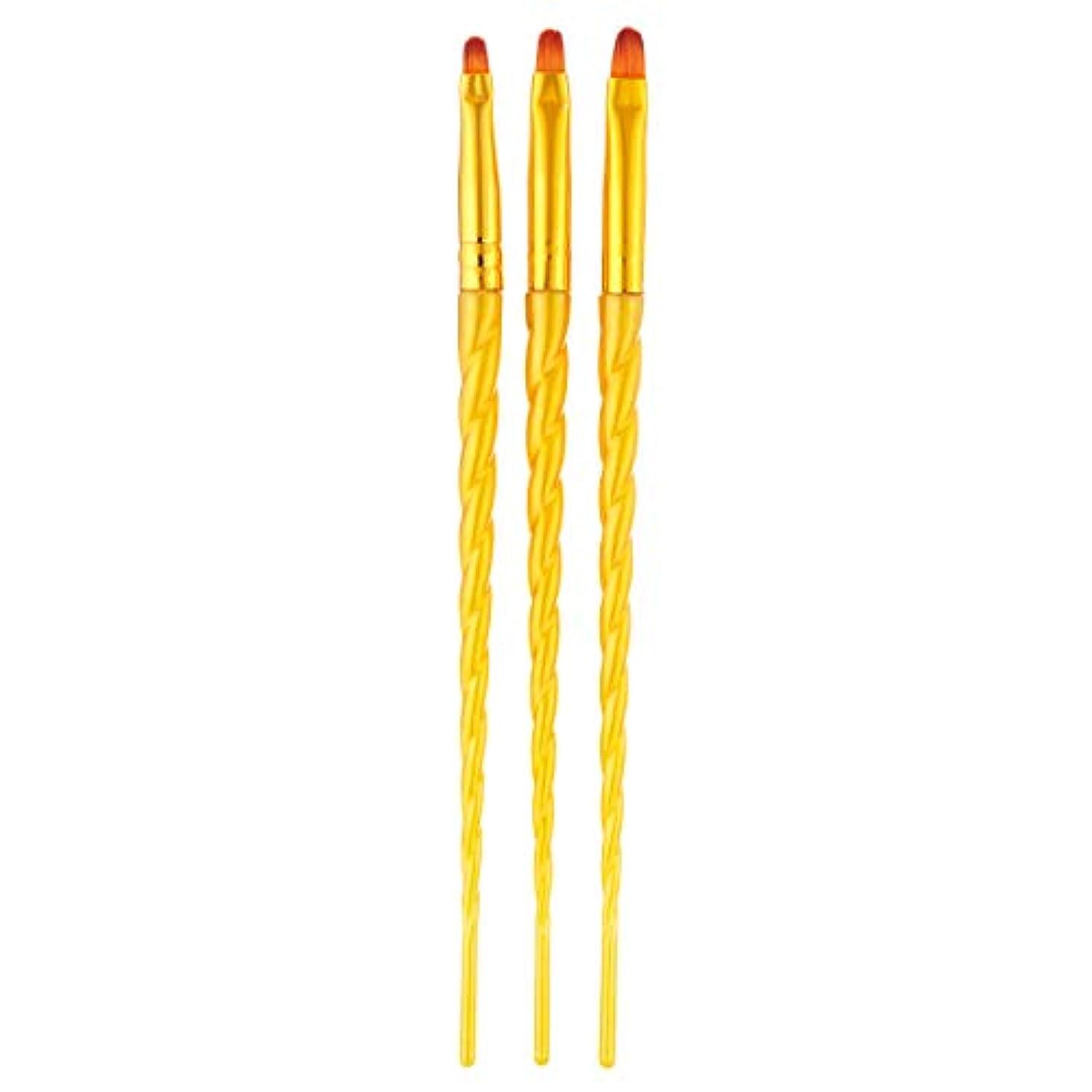 認証有限出血TOOGOO 3ピース/セット、ネイルアート、スレッド、アクリルuvジェルの延長ビルダー、絵画ブラシのパターンのデザイン、描画用ペン、マニキュアツール、ゴールデン