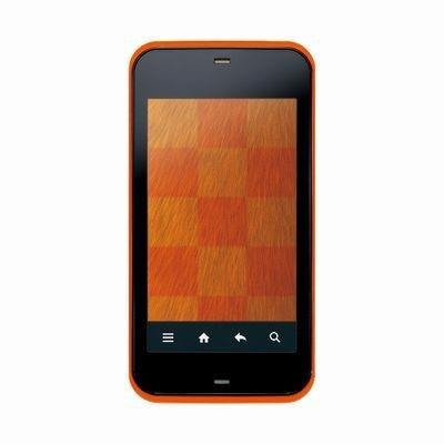 IS03(SH) オレンジ 携帯電話 白ロム au