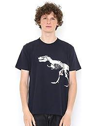 (グラニフ) graniph Tシャツ ティラノサウルス (ネイビー) メンズ レディース
