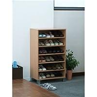 オープンシューズボックス(靴箱/下駄箱) 【幅60cm】 ナチュラル 【組立】
