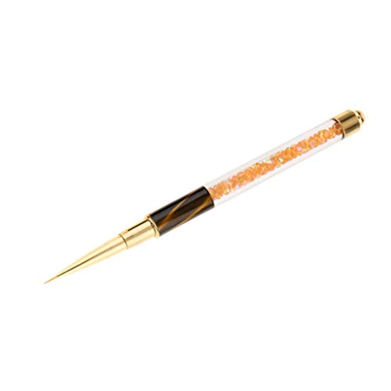 エンドウとても老朽化したToygogo 専門の釘の芸術のブラシの紫外線ゲルのポーランド人のデッサンはさみ金の絵画設計ペン - 黄