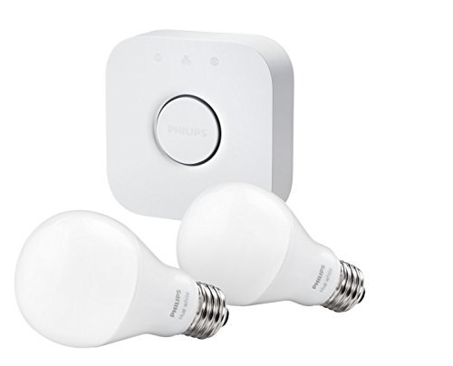 Philips(フィリップス) hue スターターセット hueブリッジv2 + hue white A60型LED電球x2 【日本語説明書付き】 [並行輸入品]