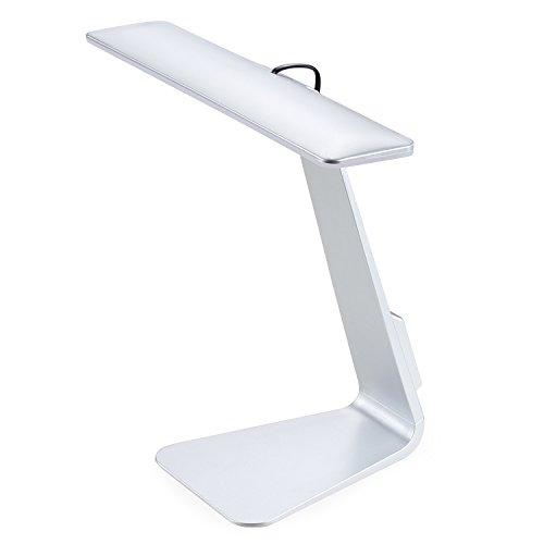 LED デスクライト NexGadget 卓上スタンド・テーブルランプ 目に優しいタッチセンサー 機能 三段階調光 USB充電対応 (シルバー)