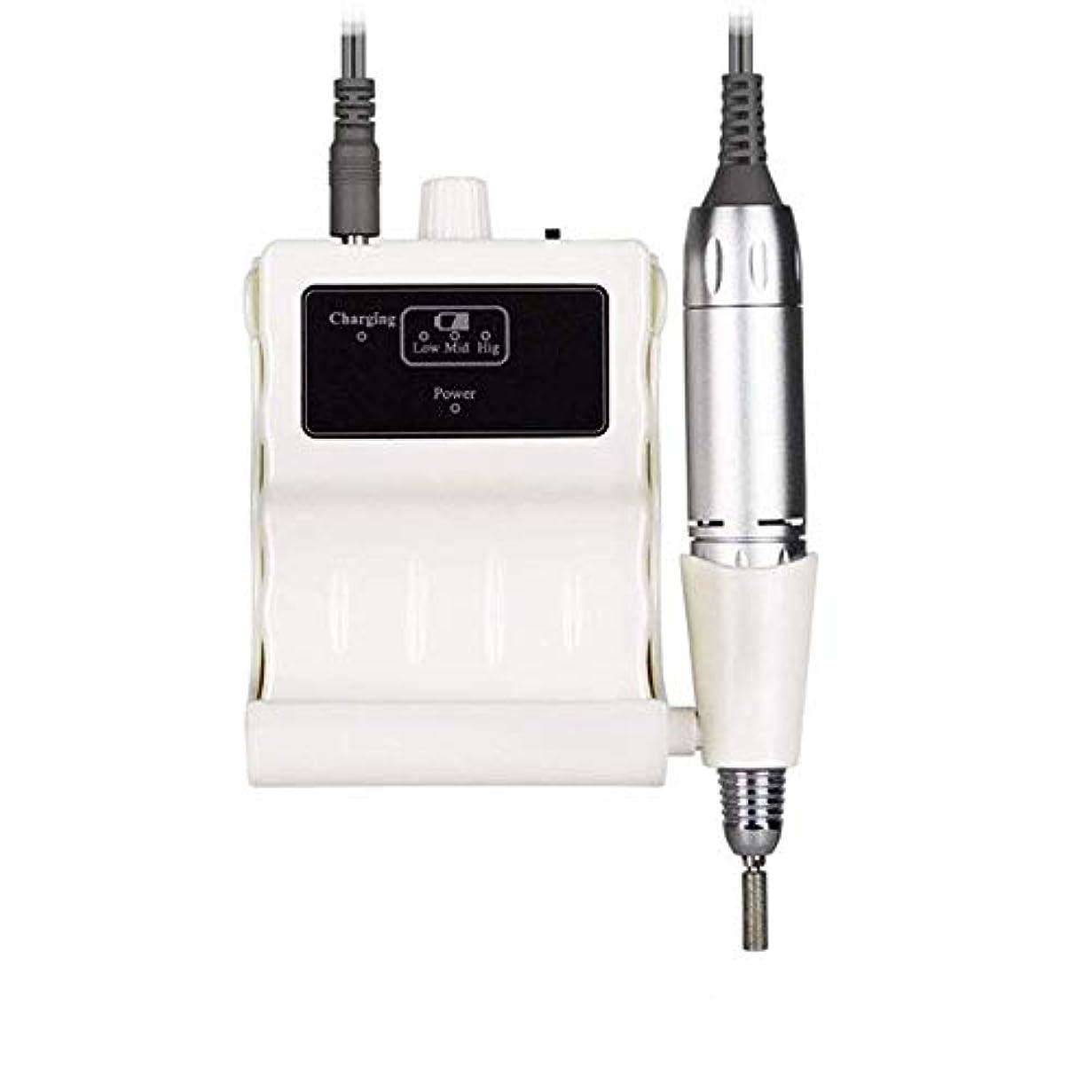 同僚ジャズ低いプロフェッショナルネイルドリルキット、電気ネイルドリルマシン30000RPM電気は6つの研削ヘッドと釘グラインダーマニキュアネイルアートツールのファイル