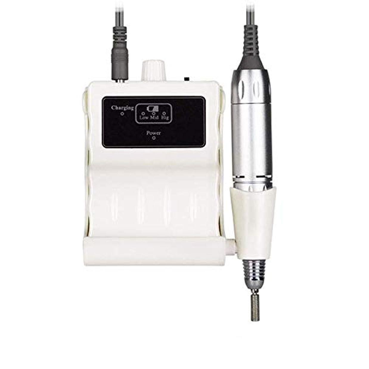パステル電化するアルカイックプロフェッショナルネイルドリルキット、電気ネイルドリルマシン30000RPM電気は6つの研削ヘッドと釘グラインダーマニキュアネイルアートツールのファイル