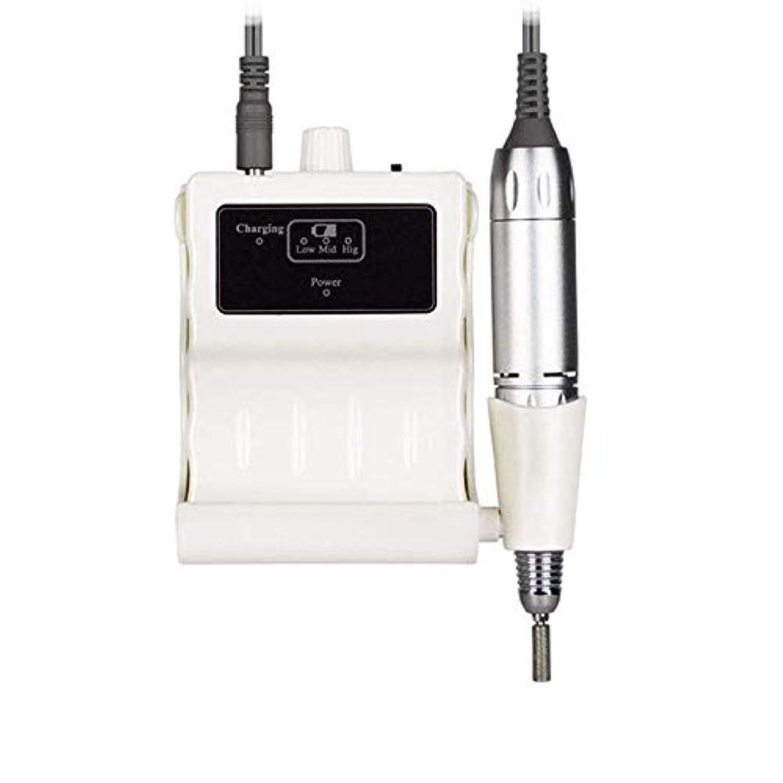 普及悪化させるスチールプロフェッショナルネイルドリルキット、電気ネイルドリルマシン30000RPM電気は6つの研削ヘッドと釘グラインダーマニキュアネイルアートツールのファイル