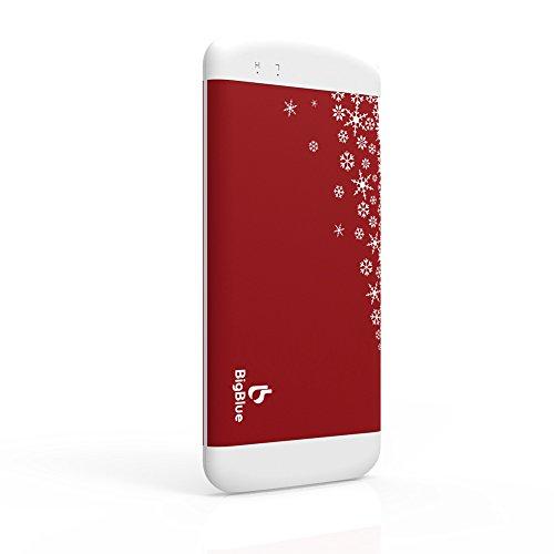 BigBlue 1台3役 充電式カイロ 6000mAh大容量 モバイルバッテリー LED照明ライト ハンドウォーマー USBカイロ 両面暖かい クリスマスプレゼント