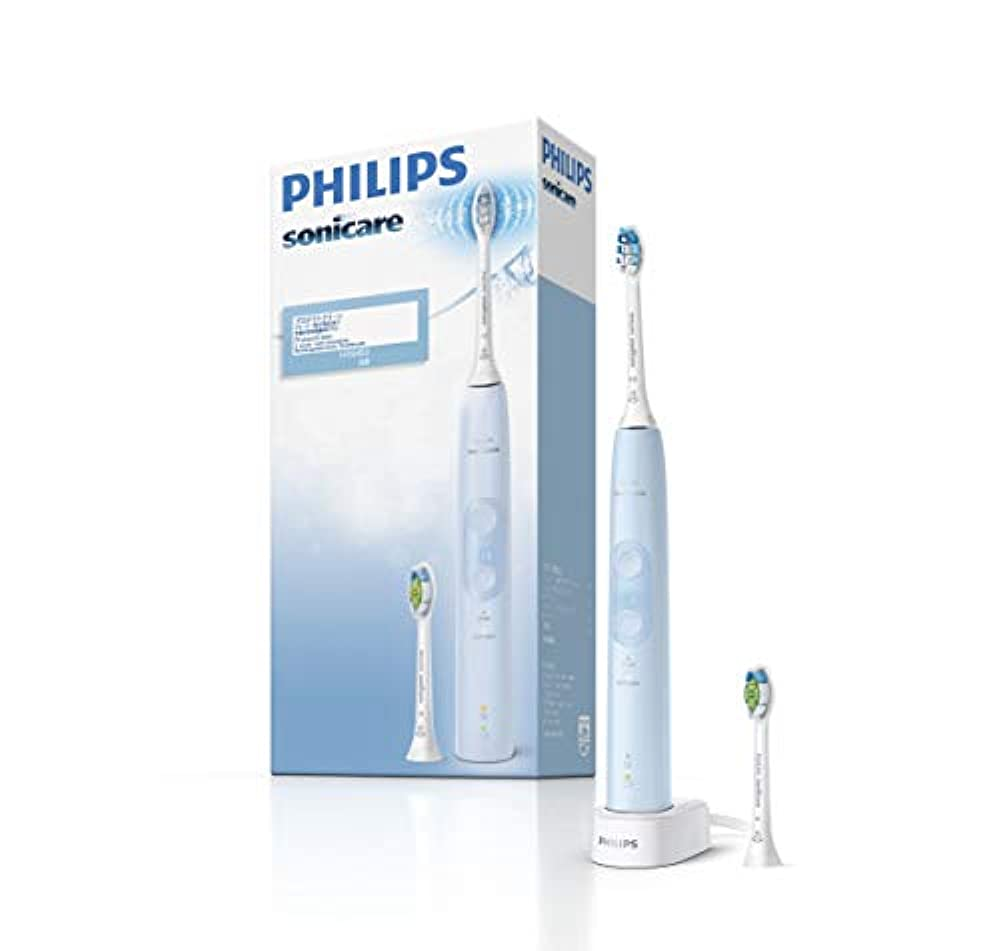 偉業石油ご飯フィリップス ソニッケアー プロテクトクリーン プラス 電動歯ブラシ ライトブルー HX6453/68