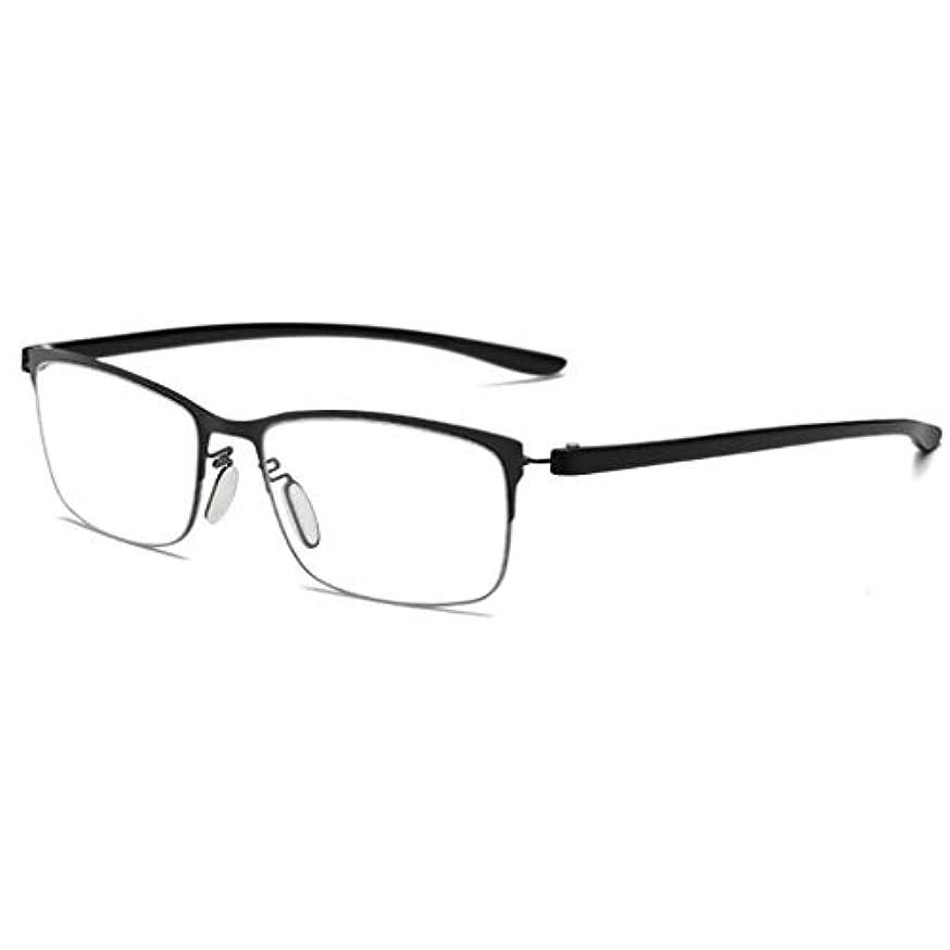 老眼鏡男と女の黒スマートズーム遠近デュアルビジョンHDビジョン樹脂レンズヒンジパターンデザインリーダーファッションハーフフレーム