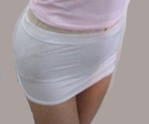視線集中! 超マイクロミニ スカート 白黒2枚セット ムチム...