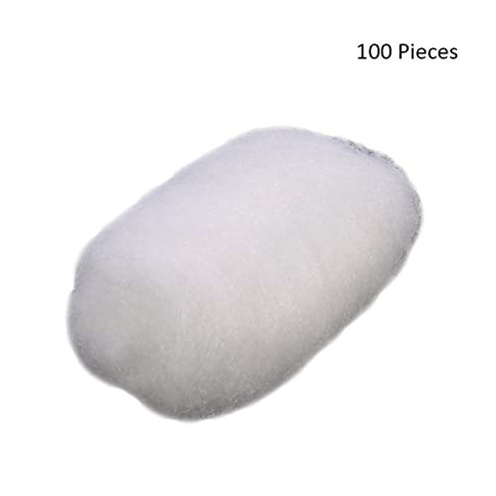 暴力野なハイキングに行く100ピース/バッグフェイスメイクアップリムーバーコットンボールタトゥー消毒メイククレンジングローション化粧品除去コットンボール (Color : White)