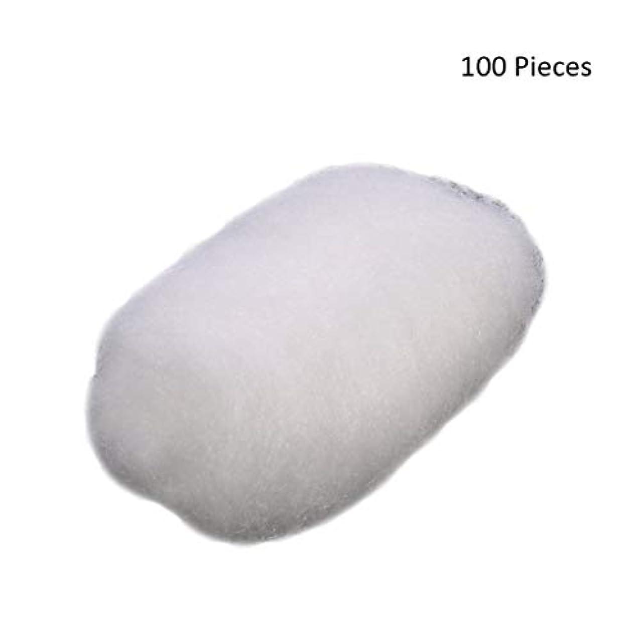 ピンチ代わりの急速な100ピース/バッグフェイスメイクアップリムーバーコットンボールタトゥー消毒メイククレンジングローション化粧品除去コットンボール (Color : White)