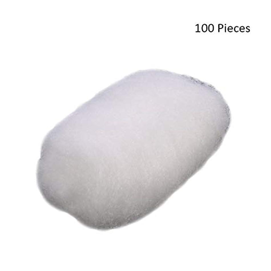 タックなくなる大学生100ピース/バッグフェイスメイクアップリムーバーコットンボールタトゥー消毒メイククレンジングローション化粧品除去コットンボール (Color : White)