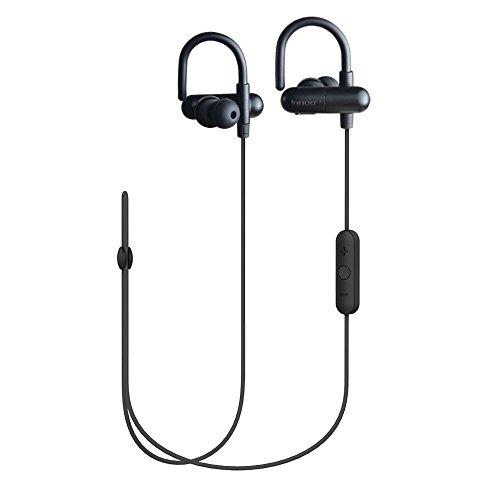 Innoo Tech Bluetooth イヤホン QY11 ワイヤレス イヤフォン スポーツ 高音質 マイク内蔵 APT-X CSR8645 CVC6.0搭載 防水 防汗 ヘッドセット iOS&Android スマホ タブレット等対応 メーカー1年保証 技適認証済 (ブラック)