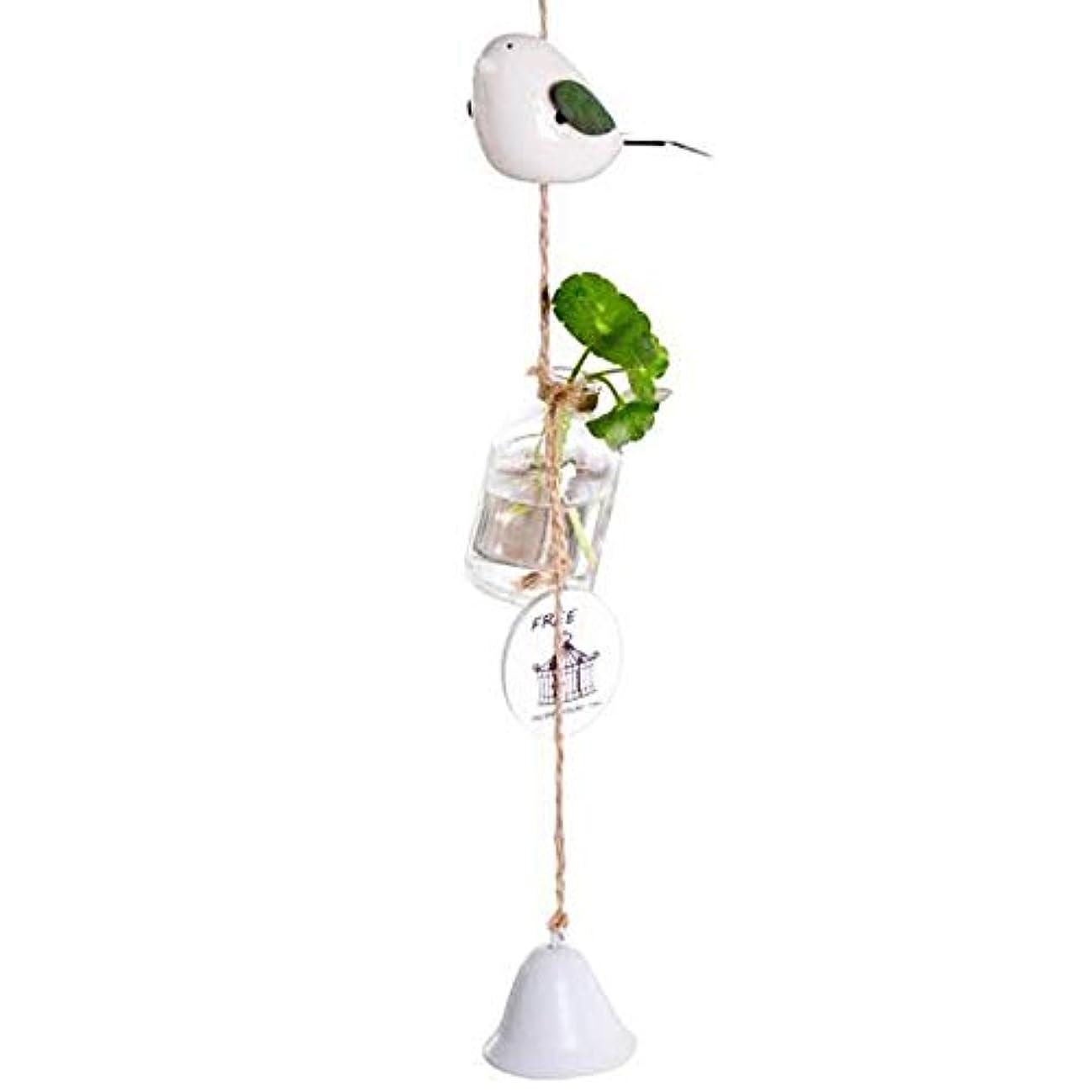 転用頼む蜂Fengshangshanghang 風チャイム、クリエイティブ?グラス風チャイム、白、ロープの長さ63センチメートルボトル(なし植物),家の装飾 (Color : White)