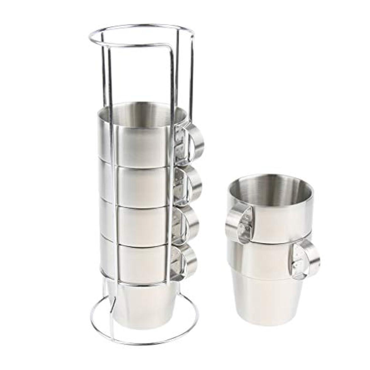 取り替えるちらつき擬人Fenteer 6個 ステンレス製 断熱カップ マグカップ