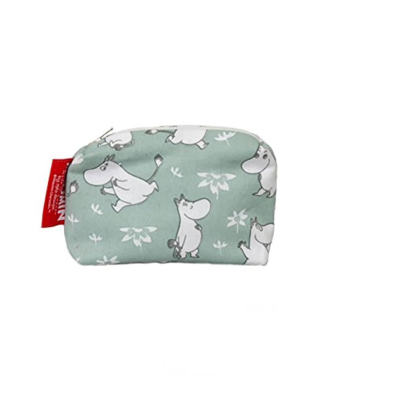 ※タグは白となります※ ファブリック 財布 ムーミン グリーン 12x10cm  fabric wallet moomin green