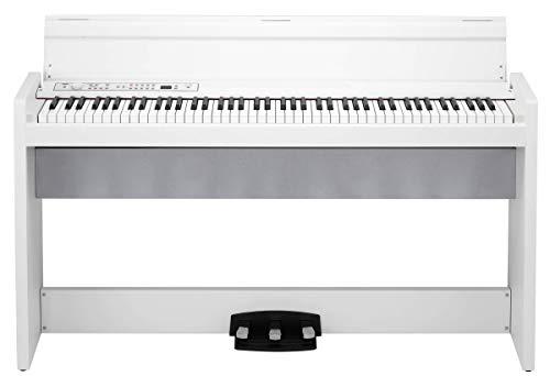 KORG 電子ピアノ LP-380-WH 88鍵 ホワイト ヘッドホン、ペダル付属 同音連打可能