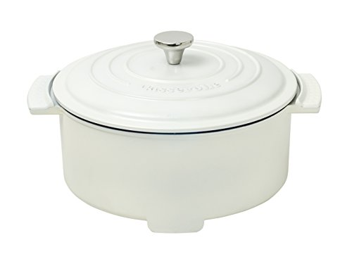 RoomClip商品情報 - 山善(YAMAZEN) グリル鍋 800W 容量2.8L (直径23 深さ6.8cm) 「Casserolle(キャセロール)」 ホワイト YGC-800(W)