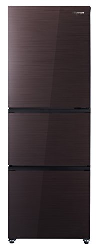 ハイセンス 282L 3ドア 冷凍冷蔵庫 ダークブラウン 右開...