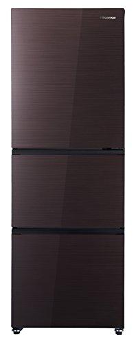 ハイセンス 282L 3ドア 冷凍冷蔵庫 ダークブラウン 右...