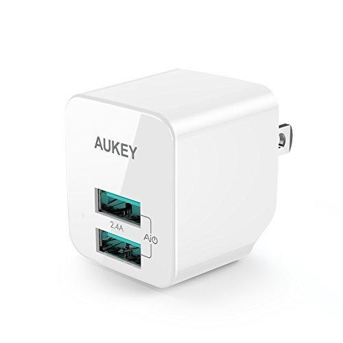 AUKEY USB充電器 ACアダプター 2ポート 超小型 折りたたみ式 軽...
