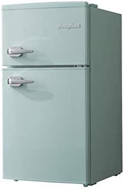 レトロ冷蔵庫 85L 2ドア 冷凍冷蔵 SP-RT85L2 3色 レトロデザイン レトロ おしゃれ かわいい 冷凍庫 冷蔵庫 一人暮らし 省エネ simplus シンプラス (ライトグリーン)