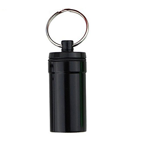 ZhaoZheピルケース 薬ケース カプセル サプリ 収納 携帯ピルケース アルミ合金防水 アウトドア