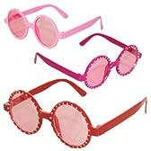 ファッションサングラス sun040 ゴスロリ ロリータ パンク コスプレ コスチューム メイド 赤