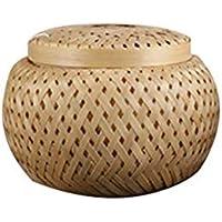 多機能収納ボックス 大容量 竹の茶の貯蔵バスケット Pu'erティーボックス ティー缶only-line