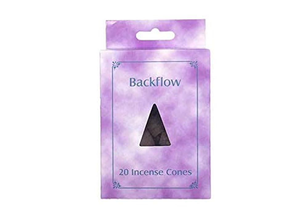 受け皿注入する犯罪お香 逆流コーン 逆流香 20p サンダルウッド Backflow Incense Cones 20p Sandalwood