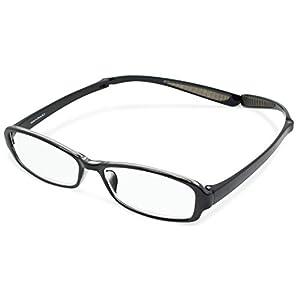 デューク 老眼鏡 首掛け リーディンググラス NEO CLASSICS Neck HUG ケース付き +2.0度数 ブラック GLR-21-1+2.00