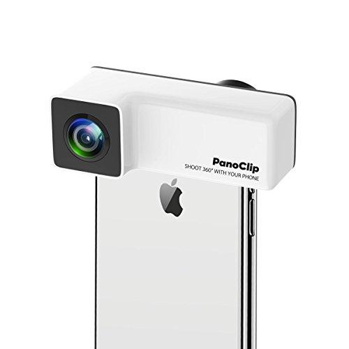 PanoClip 360 カメラ パノラマ iPhone レンズ 広角 魚眼 小型 ダブルレンズ SNSシェアー (iPhone X)