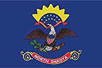 JMM Industries North Dakota Flag ND Vinyl Decal Sticker The Peace Garden State Car Window Bumper 2-Pack 5-Inches by 3-Inches Premium Quality UV-Resistant Laminate PDS340 [並行輸入品]