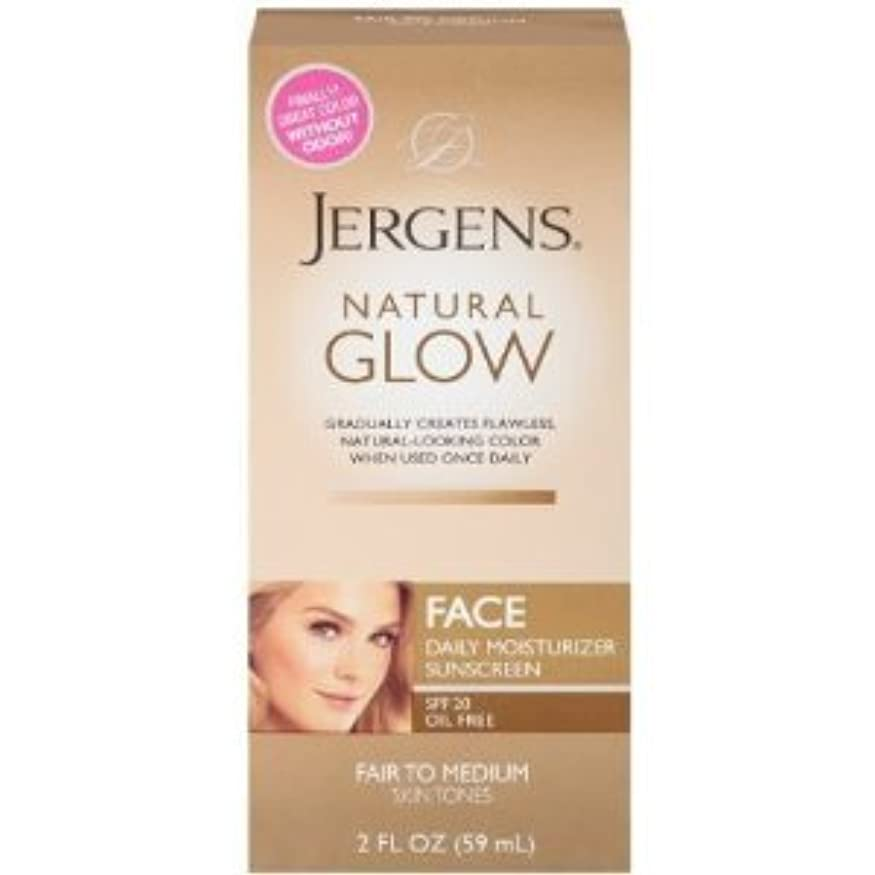 含めるはっきりとNatural Glow Healthy Complexion Daily Facial Moisturizer, SPF 20, Fair to Medium Tan, (59ml) (海外直送品)