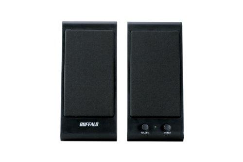 iBUFFALO スピーカー USB接続 コンセント不要 1W ブラック BSSP01UBK