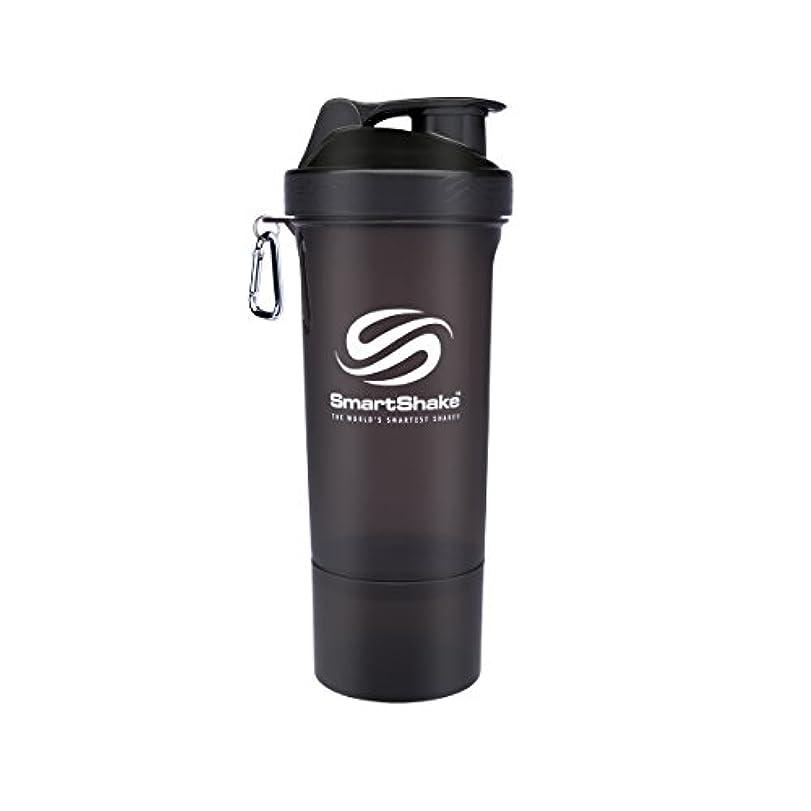 喉が渇いたと闘うお風呂SmartShake Slim(スマートシェイク スリム) BLACK 500ml 多機能プロテインシェイカー