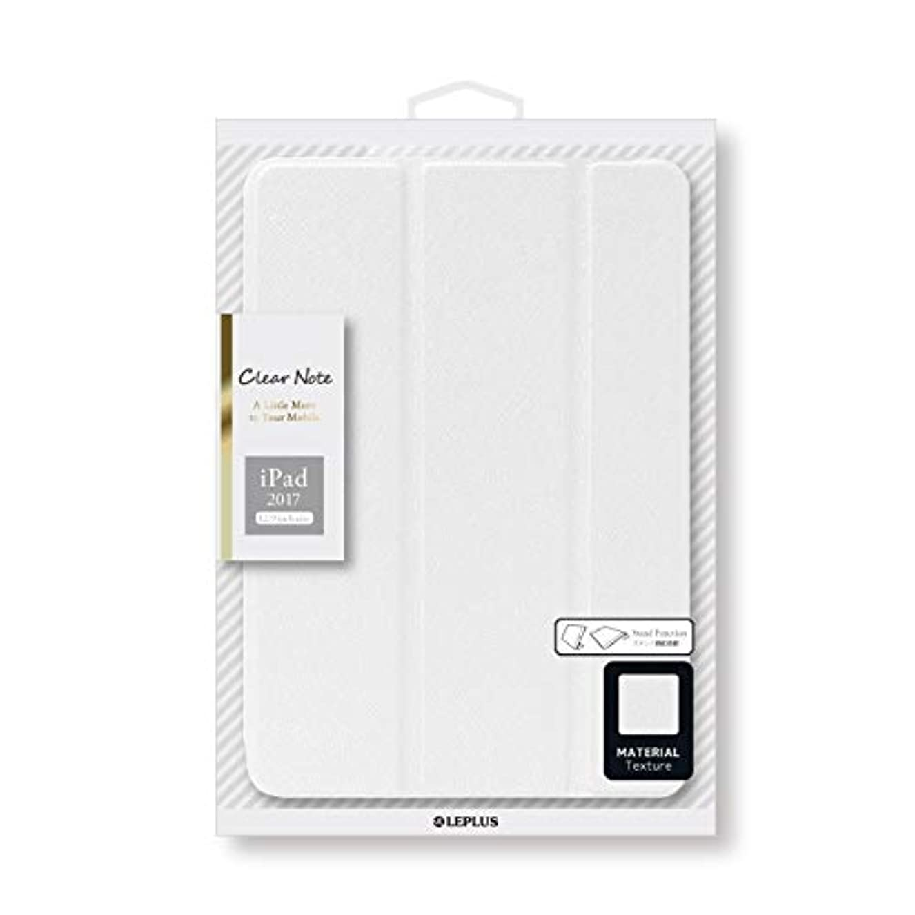開始挨拶エゴイズムiPad Pro 12.9inch/iPad Pro 背面クリアフラップケース 「Clear Note」 ホワイト