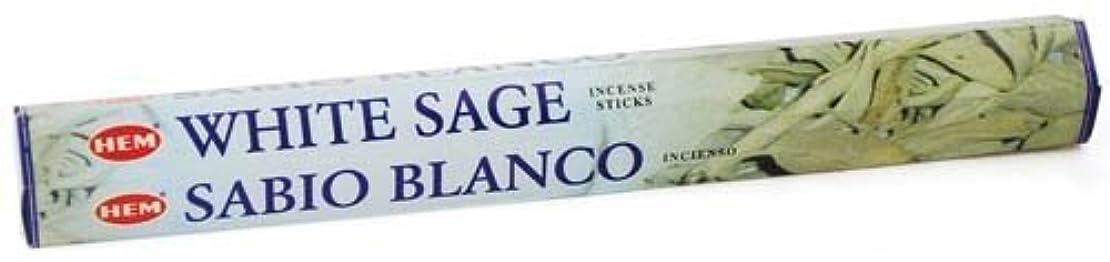 ティッシュ精神医学遠征White Sage HEM Stick Incense 20gms by Sage Cauldron [並行輸入品]
