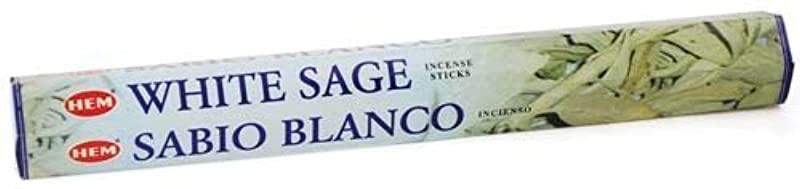 ライナー分類する実質的White Sage HEM Stick Incense 20gms by Sage Cauldron [並行輸入品]