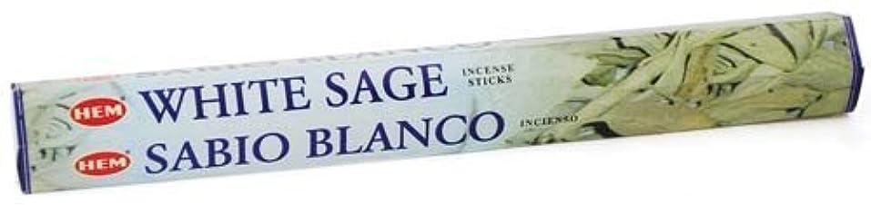 騒々しいヘッドレス拡散するWhite Sage HEM Stick Incense 20gms by Sage Cauldron [並行輸入品]