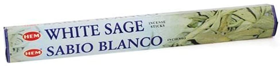 木製パンツ最大White Sage HEM Stick Incense 20gms by Sage Cauldron [並行輸入品]