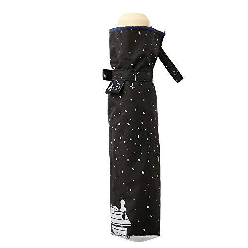 小川(Ogawa) 折りたたみ傘 雨晴兼用雨傘 手開き 55cm 6本骨 ピーナッツ スヌーピー キラキラ夜空 UV加工 はっ水 85820
