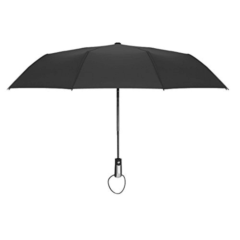GETS(ゲッツ) 折りたたみ傘 自動開閉 ワンタッチ傘 10本骨 高強度グラスファイバー 耐風撥水 飛び跳ね防止 晴雨兼用 収納ポーチ付き 軽量 丈夫 レディース メンズ