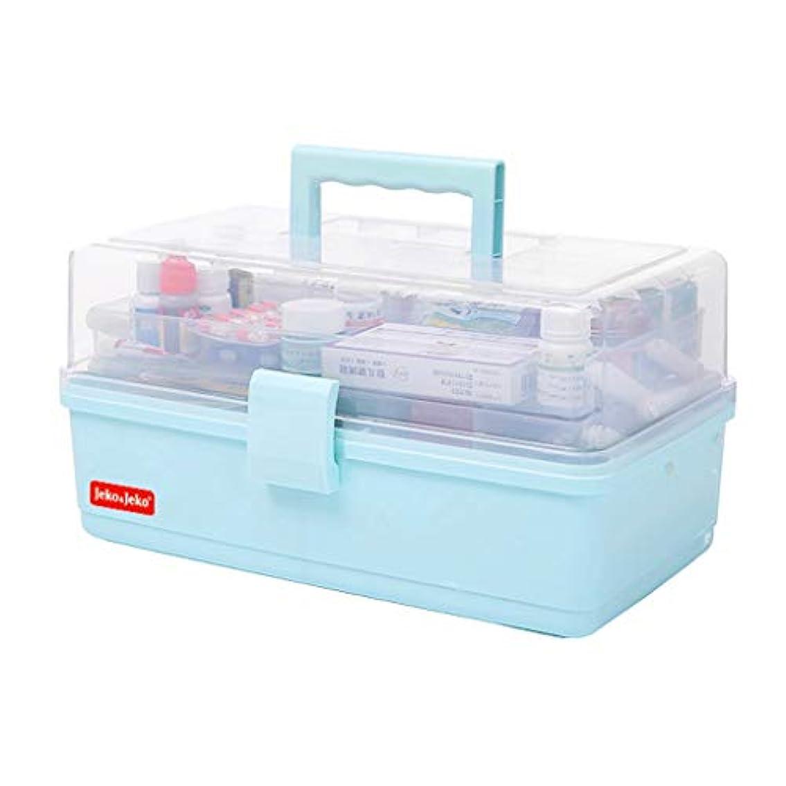 男らしさ男らしさエンドテーブルピルボックスPP 34 * 17.5 * 20 cm家庭用薬ボックス薬収納ボックス (色 : 青)