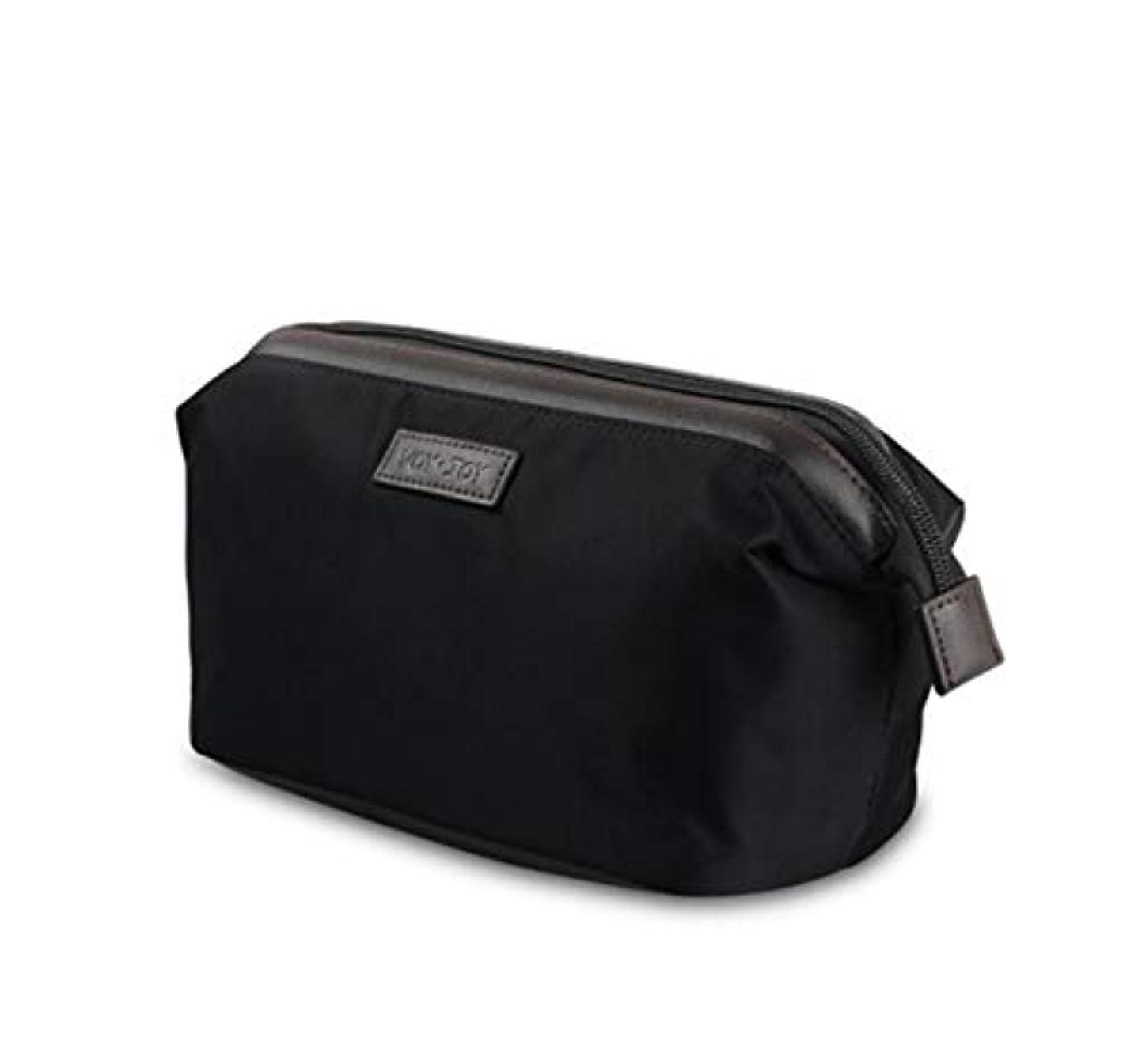 汚す動脈感動するJiabei トラベルウォッシュ収納袋防水男性と女性ポータブル仕上げ化粧品のバッグ旅行ビジネスホーム (色 : 黒)