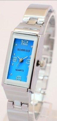 上品かつリッチな一本!スクエアタイプCUTEなレディース腕時計 [ SORISSO 9641 ] 誕生日プレゼント (ブルー)